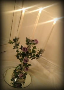Candelabrawedding centrepiece, Glasgow - Lily Special Events