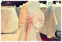 Lace wedding chair cover bows, Glasgow - Lily Special Events