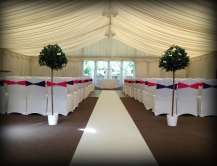 Aisle Runner wedding Carnbooth House Hotel, Glasgow - Lily Special Events
