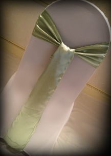 Apple satin bow, Chair covers South Lanarkshhire, Lily Special Events