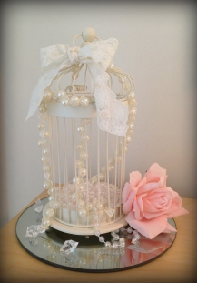 Birdcage wedding centrepiece, South Lanarkshire - Lily Special Events