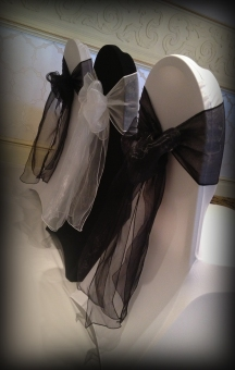 Black and white chair covers - Lily Special Events, Glasgow
