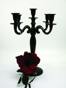 Black Candelabra 5 arm candelabra wedding centrepiece, South Lanarkshire - Lily Special Events