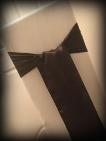 Black satin bow, Chair covers South Lanarkshhire, Lily Special Events