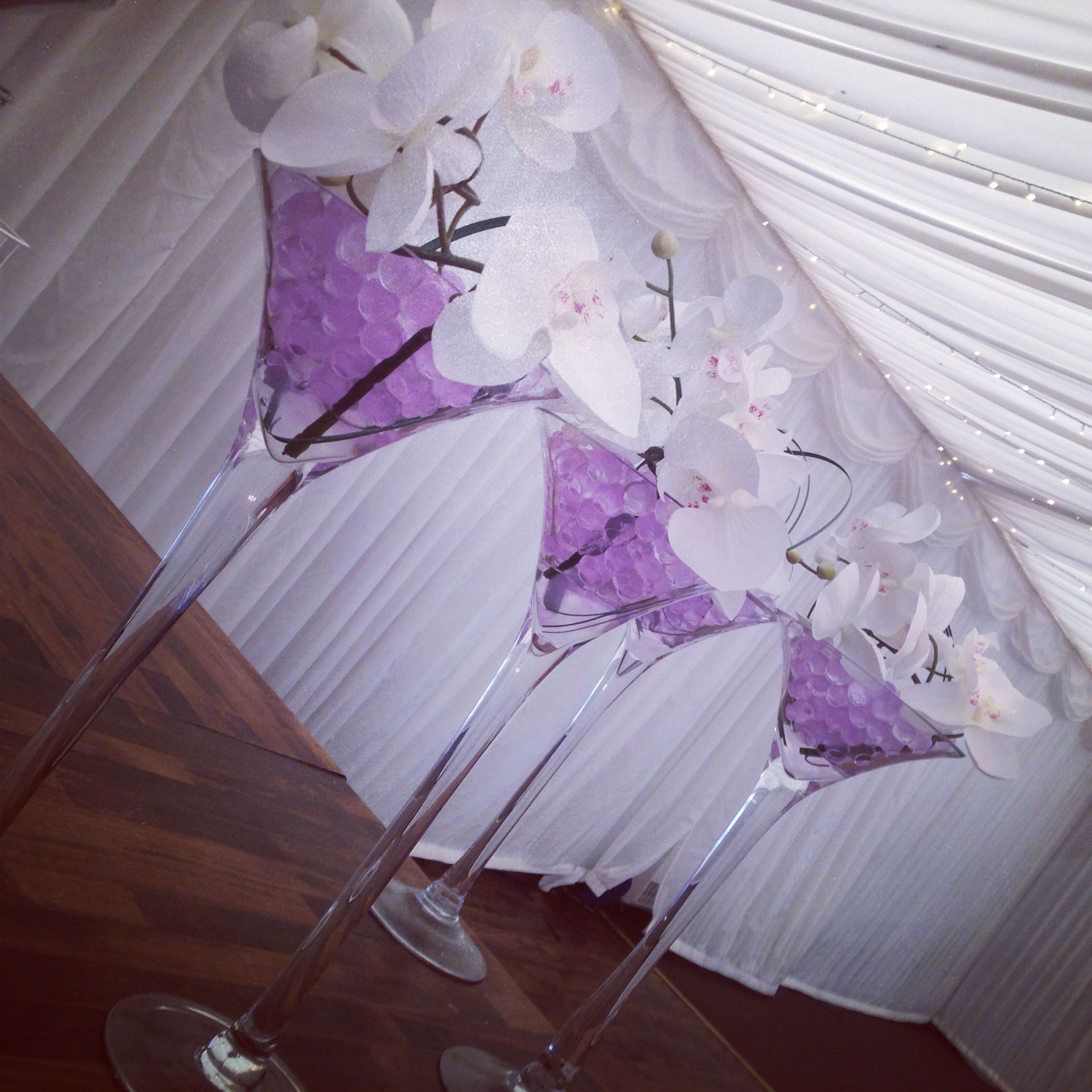 Lily special events chair covers centrepieces venue decor centrepieces martini vases wedding ideas glasgow junglespirit Images