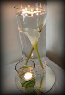 Cylinder vase wedding centrepiece, East Kilbride - Lily Special Events