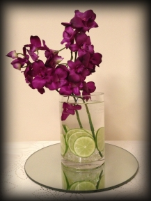 Cylinder vase wedding centrepiece, Glasgow - Lily Special Events