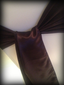 Dark plum satin bow, Chair covers South Lanarkshhire, Lily Special Events