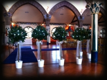 4ft bay trees - Oran Mor wedding, Glasgow - Lily Special Events