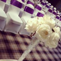Tall rose vase Centrepiece - Eglinton Arms Wedding