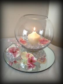 Fishbowl wedding centrepiece, South Lanarkshire