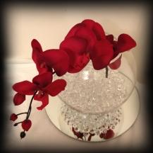 Fishbowl orchid wedding centrepiece, Glasgow
