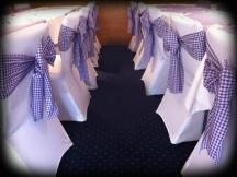 Purple gingham chair bows with Chair Covers, Glasgow