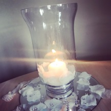 Hurricane lamp centrepiece or to line your aisle, wedding centrepiece or line your aisle, Lily Special Events, venue decor South Lanarkshire, Glasgow