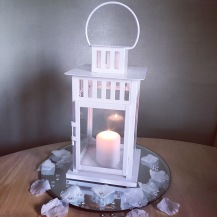 Lantern, white block lantern - Lily Special Events