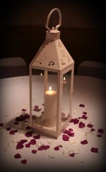 Vintage lantern centrepiece, wedding Strathaven