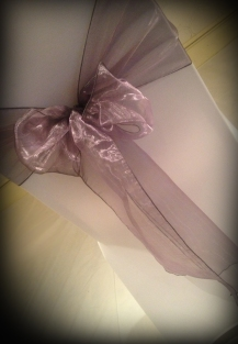 Lavender organza bow, Chair covers Glasgow, Lily Special Events