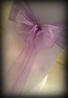 Lilac Bow Chair covers Glasgow, Lily Special Events