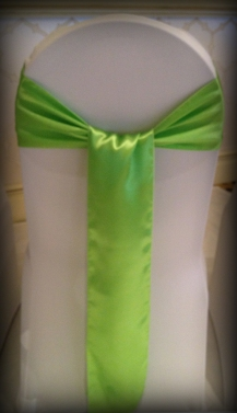 Lime green satin bow, Chair covers South Lanarkshhire, Lily Special Events