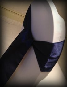 Midnight blue satin bow, Chair covers South Lanarkshhire, Lily Special Events
