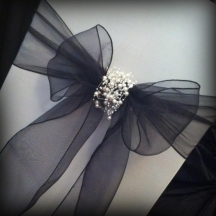 Organza bow with pearls, Chair covers South Lanarkshhire, Lily Special Events