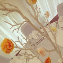 Enchanted Tree Centrepieces by Lily Special Events at Shielhill Castle, Biggar - Wedding venue decor