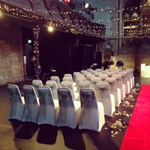 Wedding decor, chair covers by Lily Special Events, Glasgow event hire