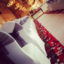 Aisle Runner, Loch Lomond, West of Scotland, Glasgow wedding, at Duckbay Marina - red and black wedding by Lily Special Events