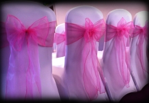 Hot pink bows Glasgow Pond Hotel - Lily Special Events