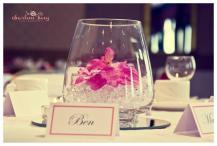Orchid wedding centrepiece, Glasgow