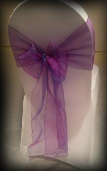 Purple chair cover bows, Glasgow
