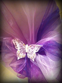Purple hood style with butterfly, Chair covers South Lanarkshhire, Lily Special Events