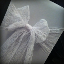 White lace bow, Wedding chair covers, central Scotland - Lily Special Events