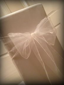 White organza bow, Chair covers Glasgow, Lily Special Events