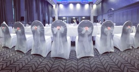 Grand Central Hotel, Glasgow, Lily Special Events, chair covers, centrepieces wedding venue decor, Scotland