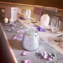 Ross Priory scottish wedding venue dressed by Lily Special Events, chair covers, table decor, centrepieces