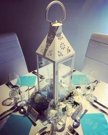 Vintage lantern centrepieces, Lily Special Events, Glasgow Lanarkshire wedding decor