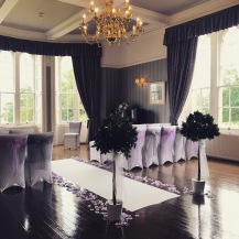 Ross Priory, Loch Lomond, scottish wedding venue ceremony dressed by Lily Special Events, bay trees