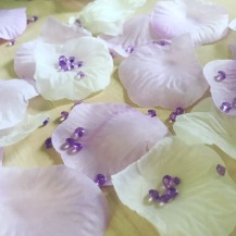 Complete your wedding decorations with our silk scatter petals from Lily Special Events