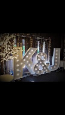 Initial led light letter set, Lily Special Events
