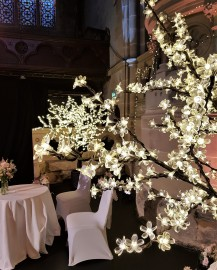 Floor standing led blossom tree, wedding event hire, Lily Special Events
