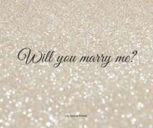 Willy you marry me, by Lily Special Events